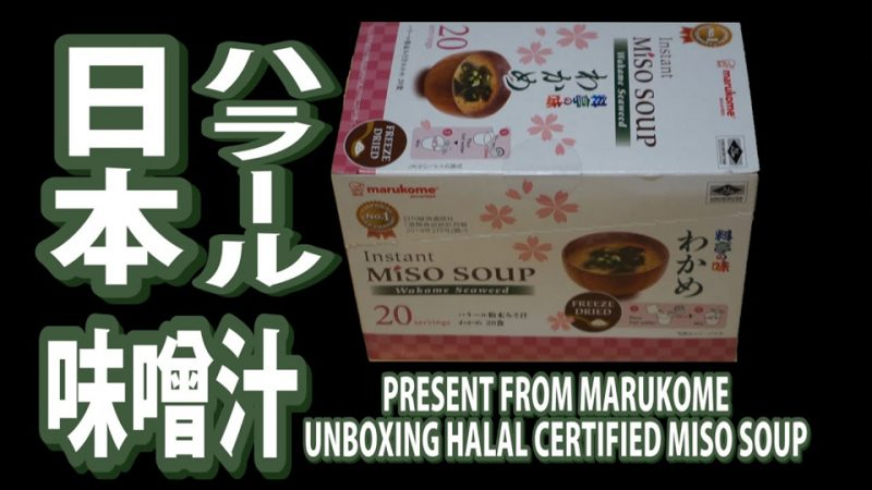 Unboxing, Review, Giveaway Halal Miso Soup in Japan // Japan Halal TV